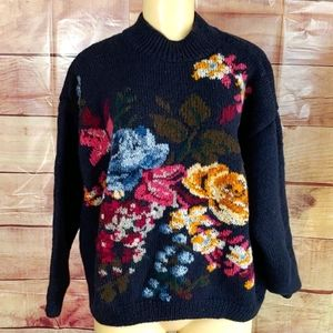 Vintage Hand Knit Sweater Size Large